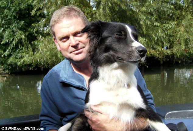 Mr Stillwell-Cox with his dog, Archie