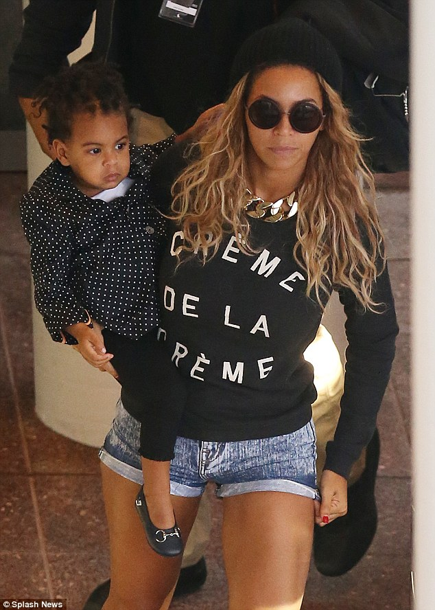Beyonce arrives at Rod Laver Arena in Melbourne with her daughter Blue Ivy, for her first Melbourne show as apart of her The Mrs. Carter Show World Tour