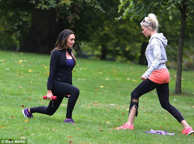 She's expecting her first child in the coming months but Tamara Ecclestone is determined to keep up her regular fitness regime