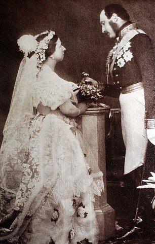 Queen Victoria and Prince Albert taken in May 1854. Victoria famously detested small babies