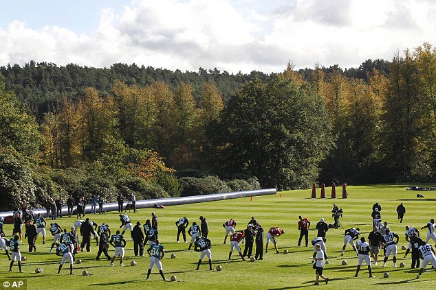 Preparation: Jacksonville have been training this week at the Pennyhill Park Hotel in Bagshot