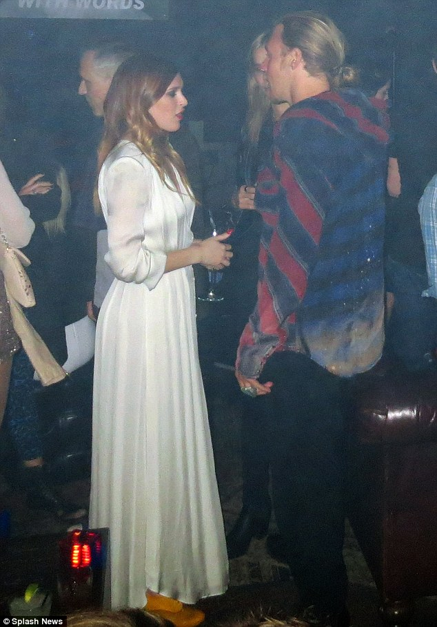 Heart to heart: Rumer chatted with mum Demi Moore's yoga companion Will after performing at The Sayers Club in Hollywood on Monday