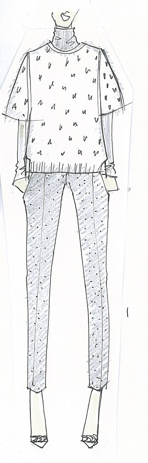 Rough copy: This limited edition collection (shown here in sketches), which ranges in price between £59 - £600, will be available at five Hobbs stores