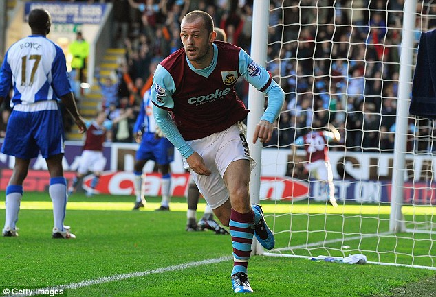 They Scot the lot: Steven Fletcher was among the goals as Burnley's Scotsmen scored eight in a row
