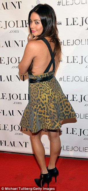 She's an animal: Vanessa wows in her leopard print dress at the party