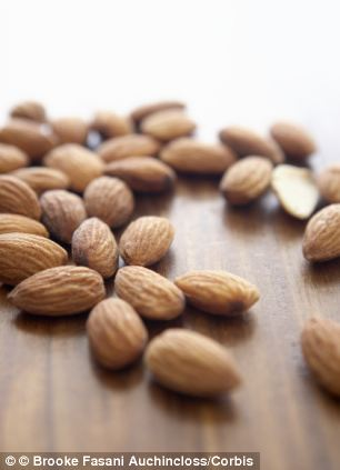 Munching on almonds can reduce a person's hunger without increasing their weight