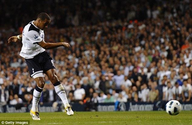 Rare sighting: Huddlestone's last goal came for Spurs against Arsenal in  2011