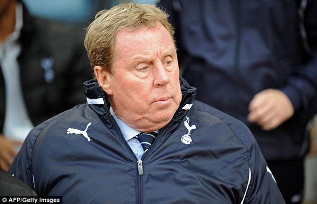 Former boss at the Lane: Harry Redknapp managed Spurs while Huddlestone was at the club