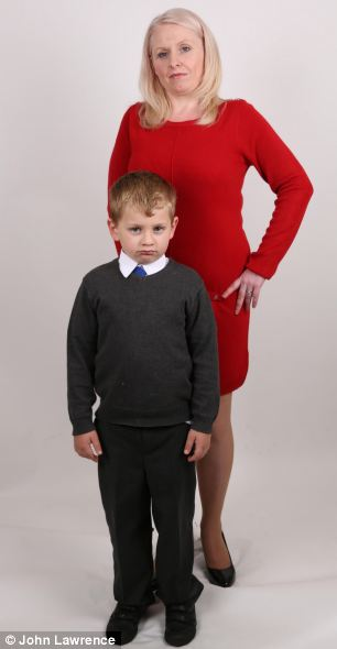 Speaking out: Debbie Reid, 35, insists her five-year-old son Harry is a victim