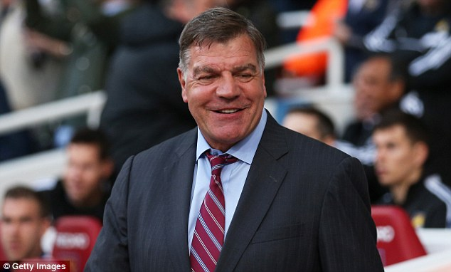 Left out! West Ham manager Sam Allardyce wasn't referenced in the autobiography