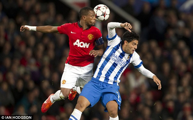 Happy where I am: Patrice Evra wants to stay at Manchester United