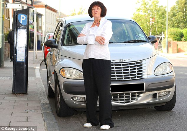 Vindicated: Carrie Haines overturned a £110 fine after a friend took photos proving the warden had made a mistake