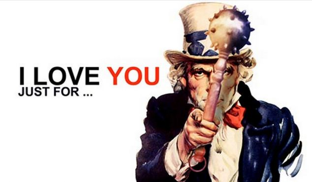 Antagonism: This image of 'Uncle Sam' holding a mace features on the awards site as inspiration