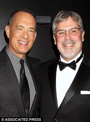 Tom Hanks and the real Captain Richard Phillips attends the world premiere in New York last month