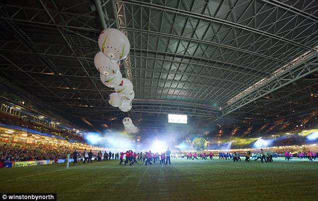 Put on the show: The Rugby League World Cup began on Saturday at the Millennium Stadium