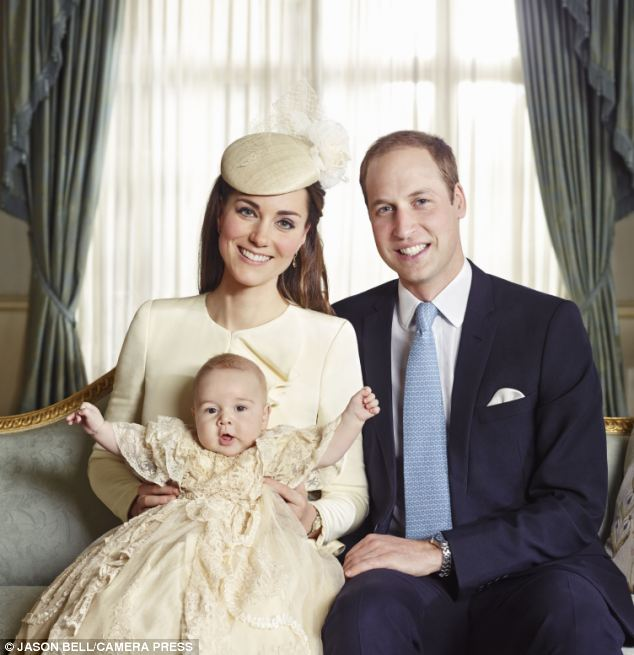 Family: Celebrity photographer Jason Bell was called upon to capture these stunning images from Prince George's christening