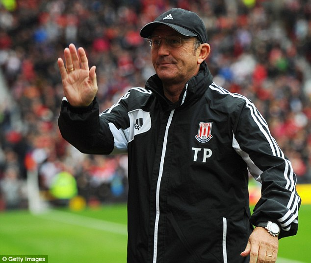 On hold: Former Stoke manager Tony Pulis was the favourite for the Palace job after Ian Holloway's departure