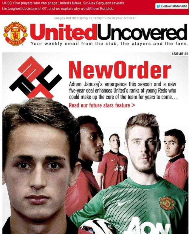 Manchester United issued an 'unreserved apology' after using a swastika-style logo in this newsletter