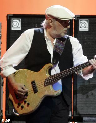 Wished the best: Bandmates said they hoped fans would join them in wishing McVie all the best as he undergoes treatment
