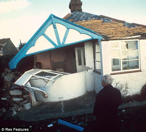HOUSE DAMAGED ROOF SUBSIDING