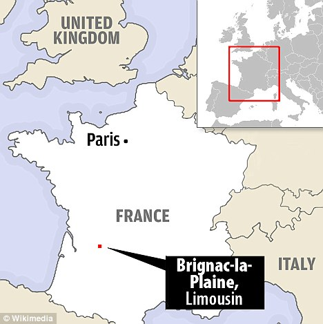 A 45-year-old Portuguese mother was in custody in France last night after her 'secret' baby was found naked, filthy and shivering in the boot of her car in Brignac-la-Plaine