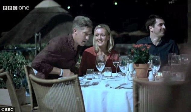 Adult actor Mark Sloan (left) was cast as Matthew Oldfield, one of the 'Tapas Seven', who were eating at a restaurant with Gerry and Kate McCann the night Maddie disappeared