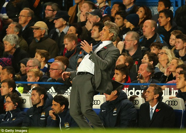 So close! Manchester City manager Manuel Pellegrini rues a missed opportunity