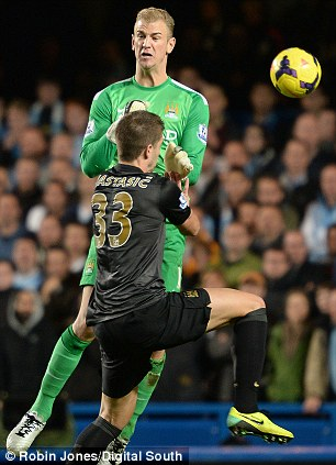 Horror show: It was a moment to forget for England goalkeeper Hart