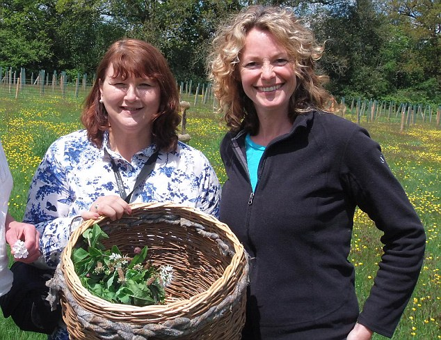Rich pickings: Wendy Gomersall (left) with TV star Kate Humble