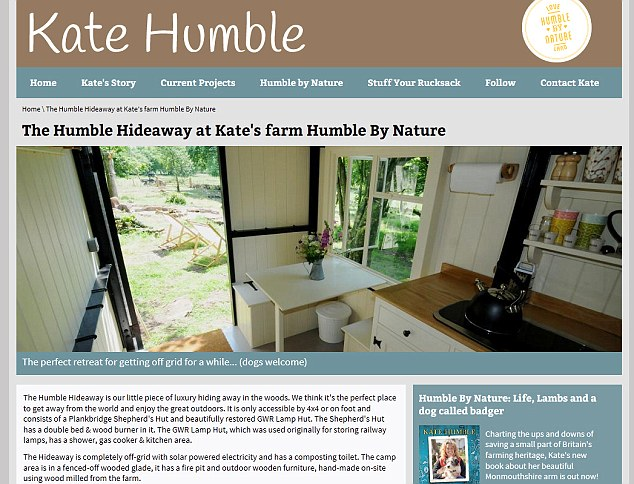 Humble Hideaway: Part of Kate's farmhouse has been turned into a holiday cottage