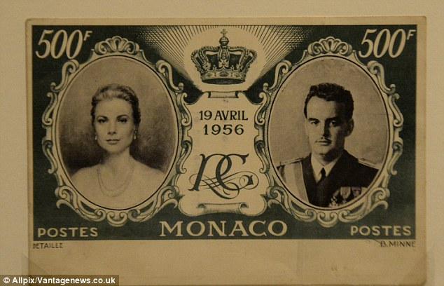 History: The exhibition also includes a Monégasque bank note produced to mark Kelly's 1956 marriage to Prince Ranier