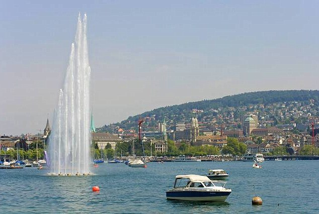 Serene: Lake Zurich boasts luxurious waterside homes and beaches