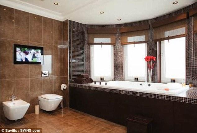 The home has ten plasma TVs as well as three Onkyo home cinema systems