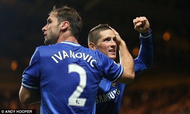 Praised: Mourinho was happy that Torres' hard work paid off