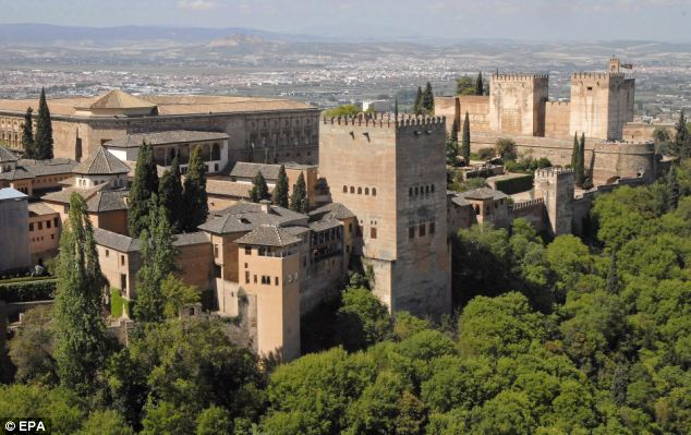 Dream holiday: The grandmother had been looking forward to her trip to Granada, with its famous Alhambra palace (above)