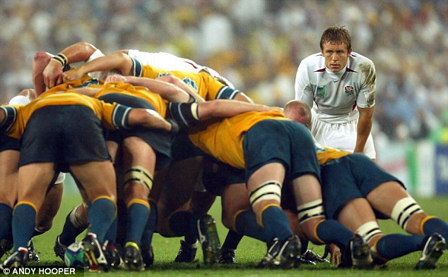Pinged: England were consistently penalised in the scrum as they battled with Australia in the final