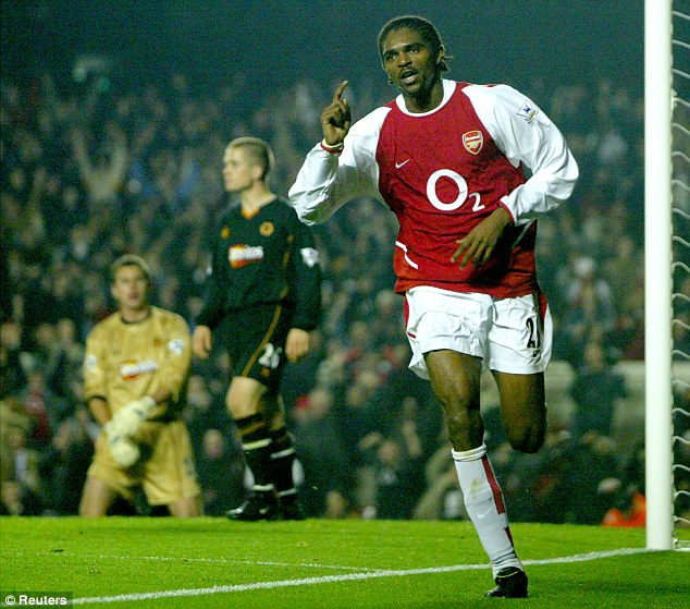 Impact: Nwankwo Kanu made 118 Premier League appearances from the substitutes' bench