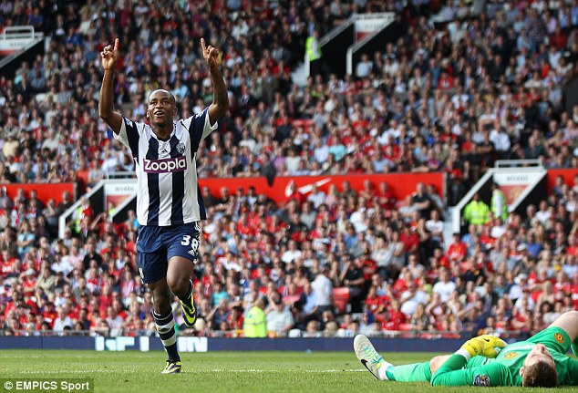 Hot shot: Young striker  Saido Berahino came off the bench to score West Brom's winner against Man United