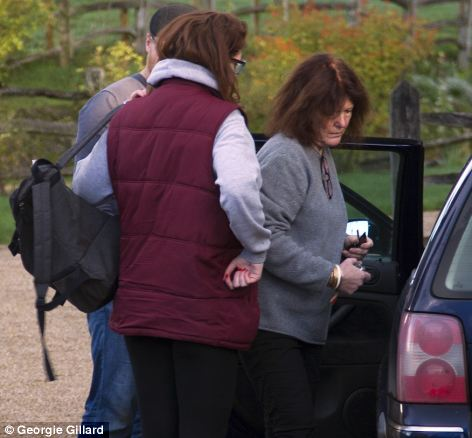 Devastating: Beth Freeman's mother arrives at the scene of the accident