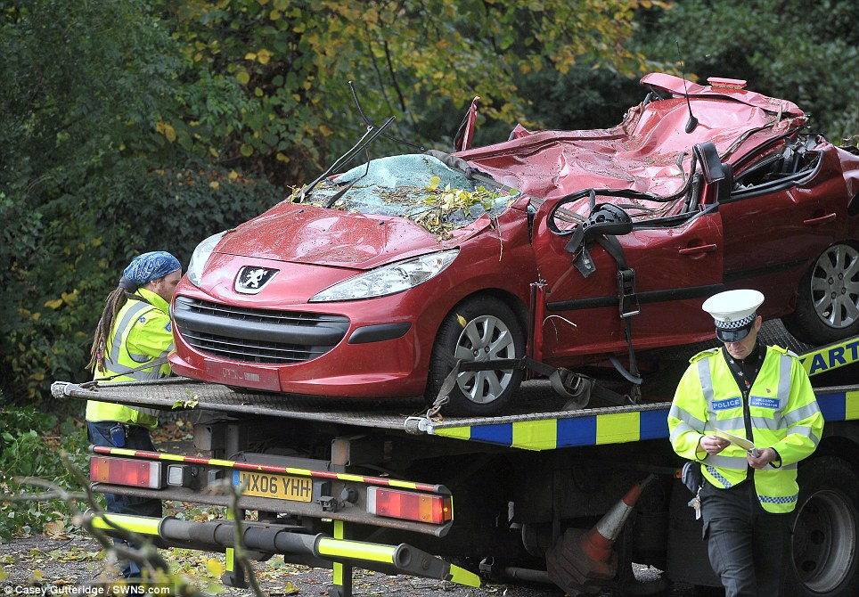 He was driving a red Peugeot 307 and was the only person in the vehicle, Hertfordshire Police said