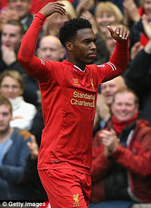 Banging them in: Daniel Sturridge is on fine form for Liverpool