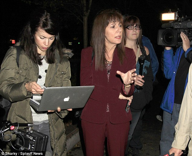 Dr Conrad Murray's lawyer Valerie Wass speaks to reporters outside Los Angeles County Jail