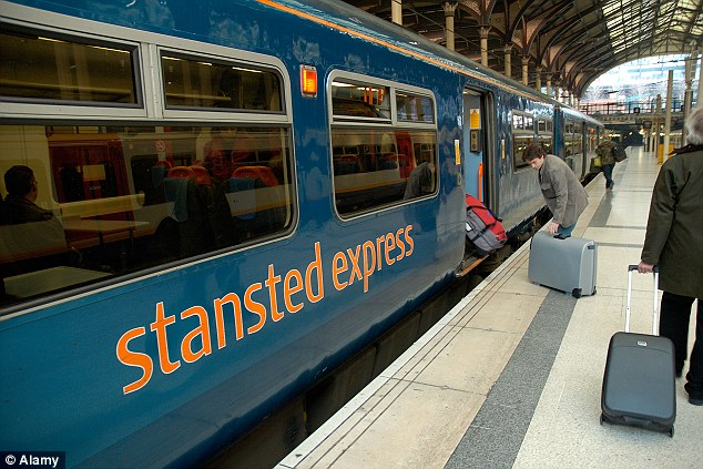 Disruption: All Greater Anglia trains are suspended until further notice, including the Stansted Express