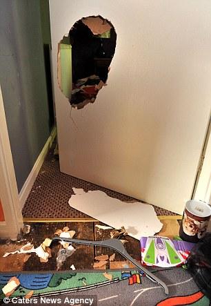 Damage inside the house