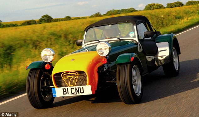 In the slow lane: Its range comprises 13 models of the two-seater Caterham Seven sports car, including the popular Seven 160.