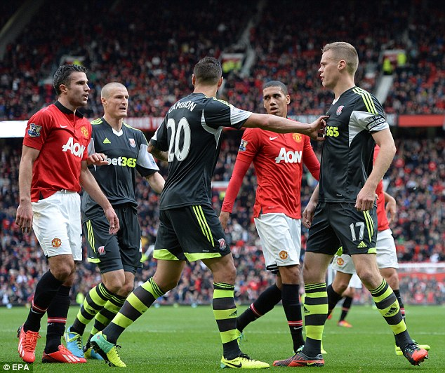 Carded: Shawcross was booked in the tunnel during half-time after the incident