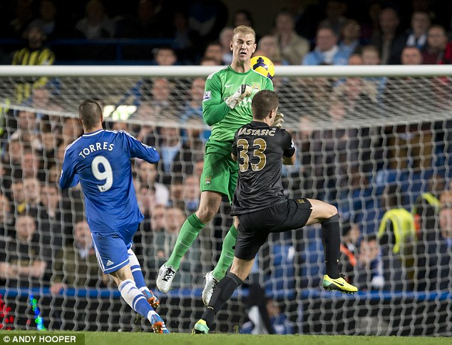 Gifting the winner: Hart rushed off his line but didn't communicate his intentions with Matija Nastasic