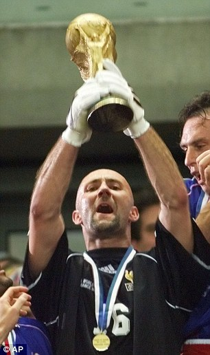 Finest hour: Barthez lifts the World Cup in 1998
