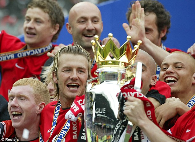 United front: Barthez celebrates winning the Premier League title in 2003
