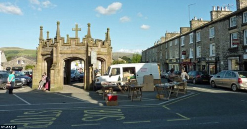 Back to reality: Kirkby Lonsdale Market Square on a normal day. The square hosts a weekly market in support of local merchants who sell food, flowers and plants